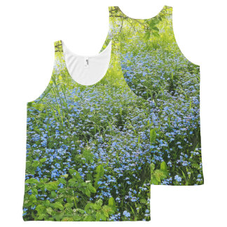 Wild forge me nots flowers photo All-Over-Print tank top