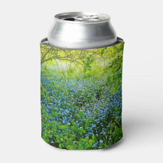 Wild forge me nots flowers photo can cooler