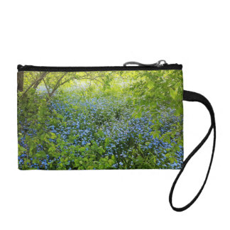 Wild forge me nots flowers photo coin purse