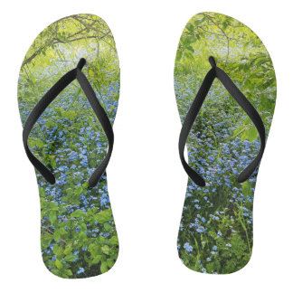 Wild forge me nots flowers photo flip flops