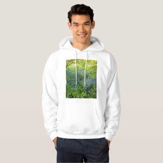 Wild forge me nots flowers photo hoodie