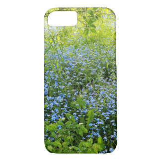 Wild forge me nots flowers photo iPhone 8/7 case