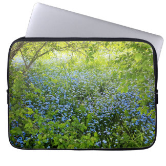 Wild forge me nots flowers photo laptop sleeve