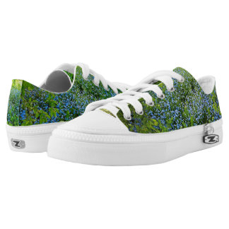 Wild forge me nots flowers photo Low-Top sneakers
