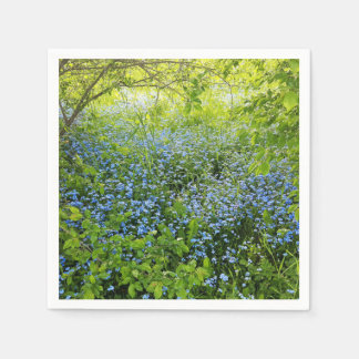 Wild forge me nots flowers photo paper napkin