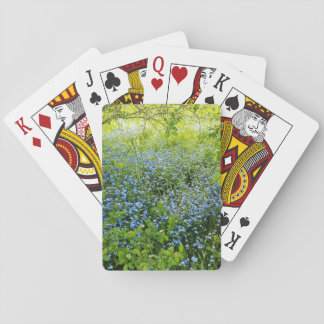 Wild forge me nots flowers photo playing cards