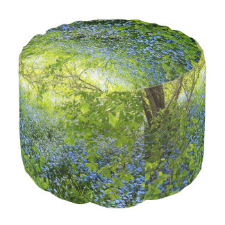 Wild forge me nots flowers photo pouf