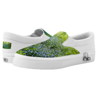 Wild forge me nots flowers photo Slip-On sneakers