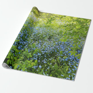 Wild forge me nots flowers photo wrapping paper