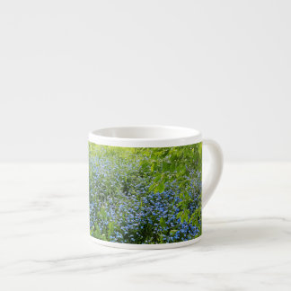 Wild forget-me-nots flowers photo espresso cup