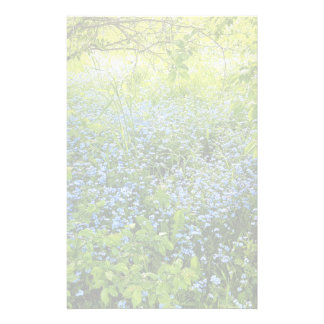 Wild forget-me-nots flowers photo stationery