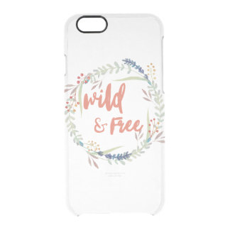Wild & Free Clear Barely There Iphone Case