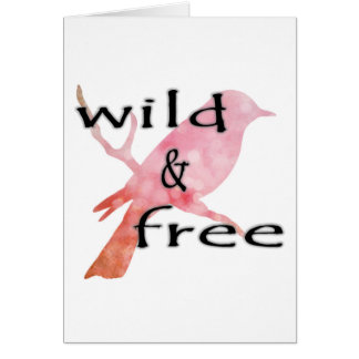 Wild & Free Greeting Card - Blank Inside