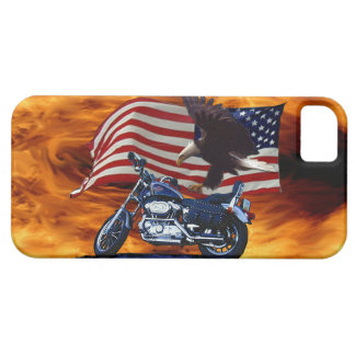 Wild & Free - Patriotic Eagle, Motorbike & US Flag iPhone 5 Case