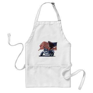 Wild & Free - Patriotic Eagle, Motorbike & US Flag Standard Apron