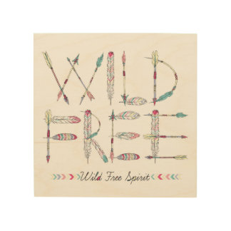 Wild & Free Spirit Native American Wood Wall Art
