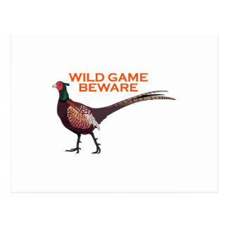 WILD GAME BEWARE POSTCARD