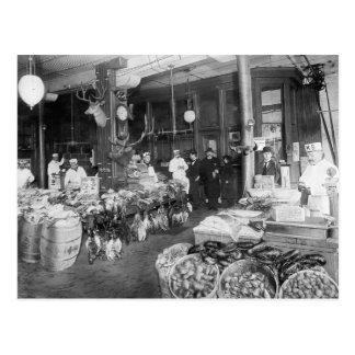 Wild Game & Seafood Market, 1895 Postcard