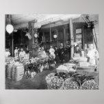 Wild Game & Seafood Market, 1895. Vintage Photo Poster