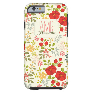 Wild Garden Floral Personalized Monogram Case