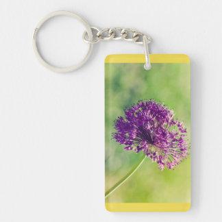Wild garlic flower keychain