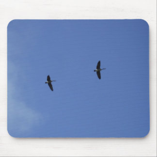 Wild Geese-Blue Sky Mouse Pad