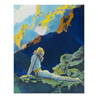 Wild Geese by Maxfield Parrish Print