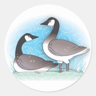 wild geese classic round sticker