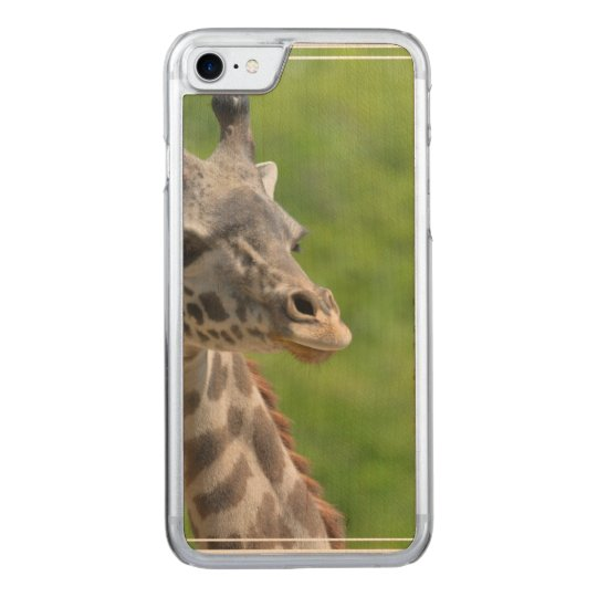 Wild Giraffe Carved iPhone 8/7 Case