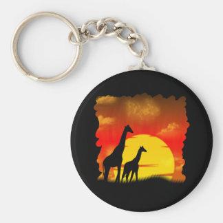 Wild Giraffe Keychain