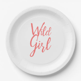 Wild Girl Feminist Plates
