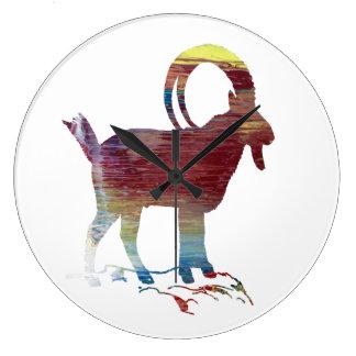 Wild Goat Large Clock