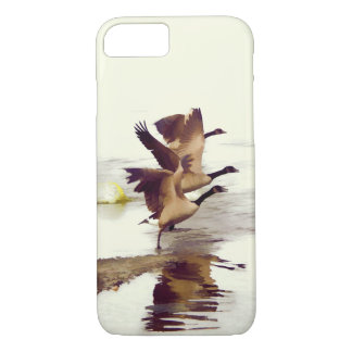 """Wild Goose Chase""   -  Running Geese iPhone 8/7 Case"
