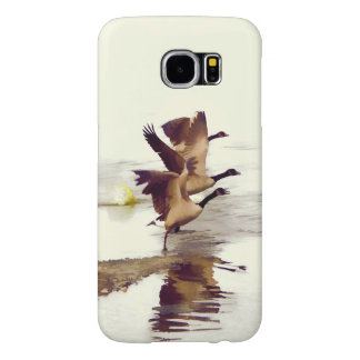 """Wild Goose Chase""   -  Running Geese Samsung Galaxy S6 Cases"