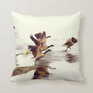 """Wild Goose Chase""   -  Running Geese Throw Pillow"