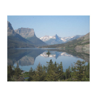 Wild Goose Island with Reflection Canvas Print
