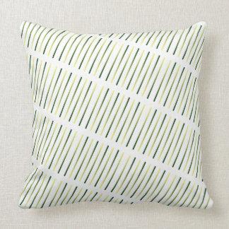 Wild Grasses Olive Khaki Tribal Contemporary Decor Throw Pillow