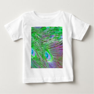 Wild Green Peacock Feathers Baby T-Shirt