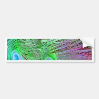 Wild Green Peacock Feathers Bumper Sticker