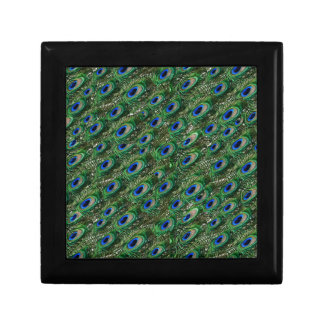wild green peacock feathers keepsake boxes
