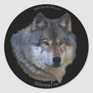 WILD GREY WOLF Stickers