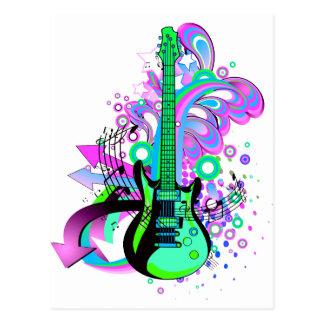 Wild Guitar Postcard