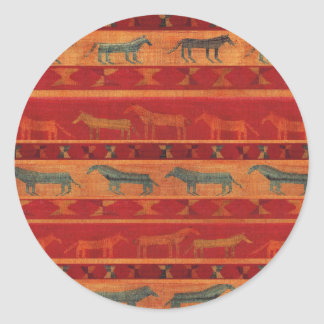 Wild Gypsy Mustangs Classic Round Sticker