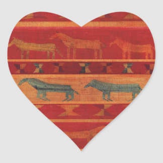 Wild Gypsy Mustangs Heart Sticker