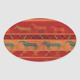 Wild Gypsy Mustangs Oval Sticker