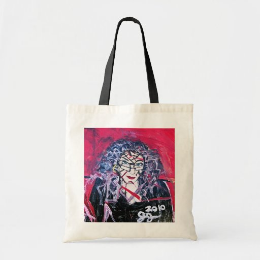 WILD HAIR ABSTRACTION TOTE BAG