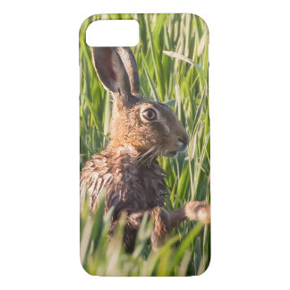 Wild hare having a wash close up iPhone 8/7 case