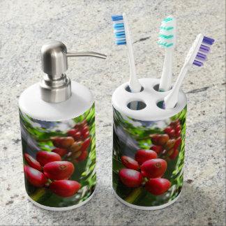 Wild Hawaiian Coffee Soap Dispenser And Toothbrush Holder