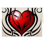 Wild Heart Tattoo style Greeting Card