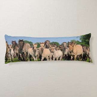 Wild Herd Grullo Color Dulmen Horses Foals  cuddly Body Pillow